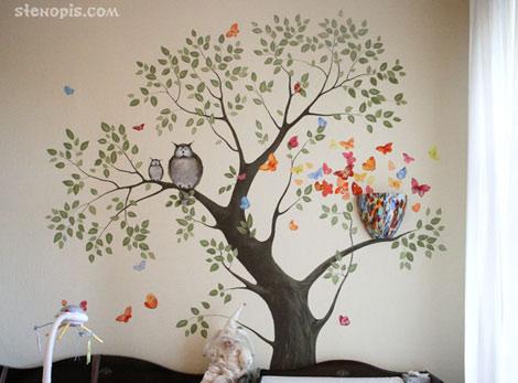 Роспись стены детской комнаты, СПб