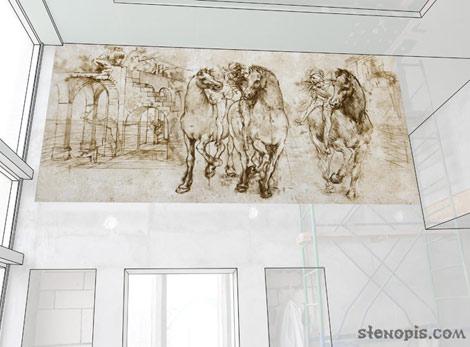 эскизы к росписи стен в загородном доме, СПб