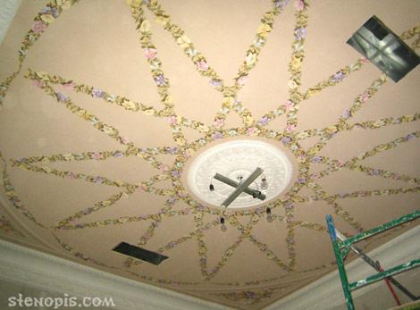 Роспись потолка гостиницы, СПб
