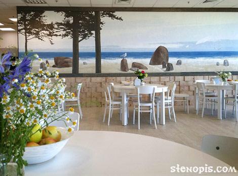 Роспись стен и оформление интерьера кухни