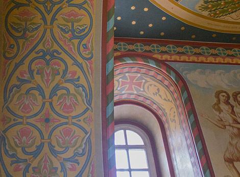 Роспись стен в соборе Архангела Михаила. Притвор